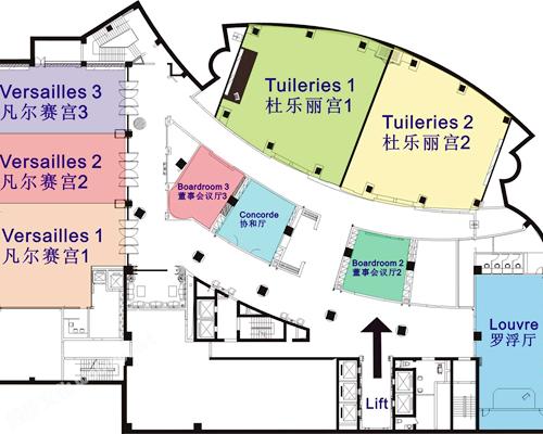 成都泰合索菲特大饭店-平面图