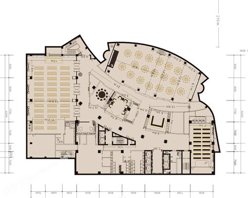 成都泰合索菲特大饭店-平面图1